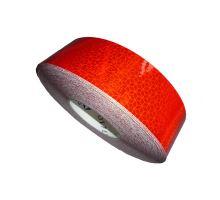 Reflexní páska samolepící červená - pevný povrch, 50m