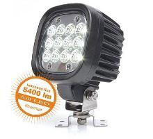 Pracovní světlo 12 LED Samsung / 62W, W130 - rozptýlené, al černé s držákem, 110 x 110 mm