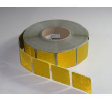 Reflexní páska segment. žlutá na plachtu, 50m